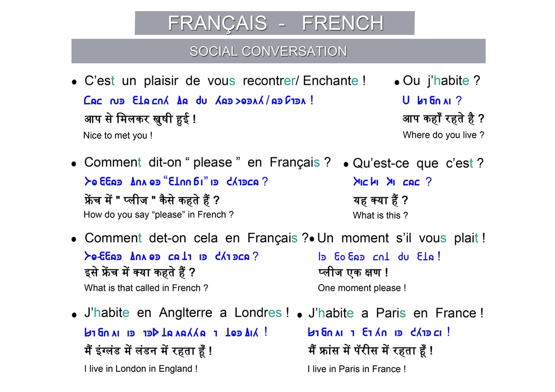French A Common Script For The World J'habite à paris.i live in paris. a common script for the world weebly